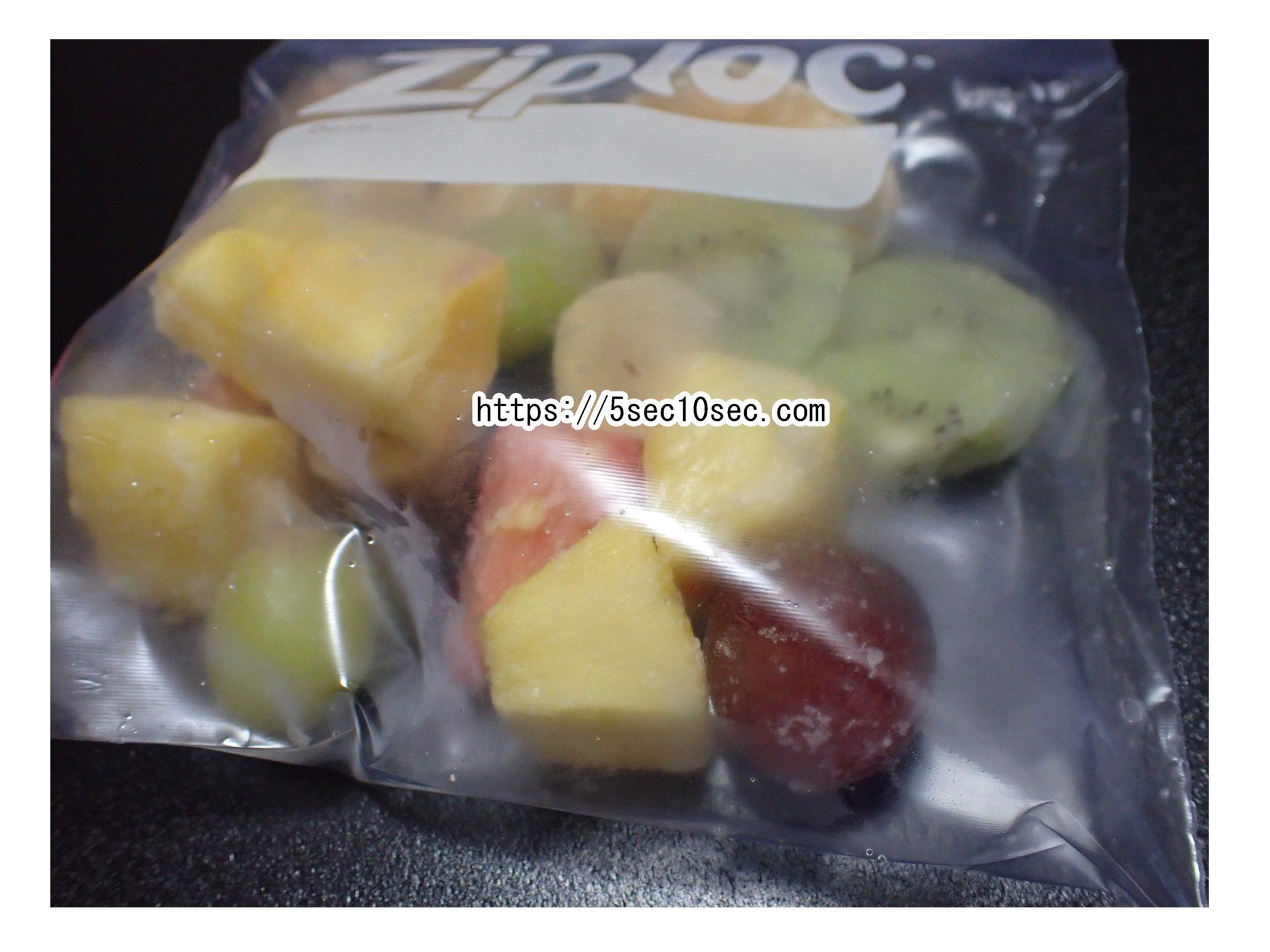 普通の果物を凍らせて冷凍フルーツを作ってみた写真