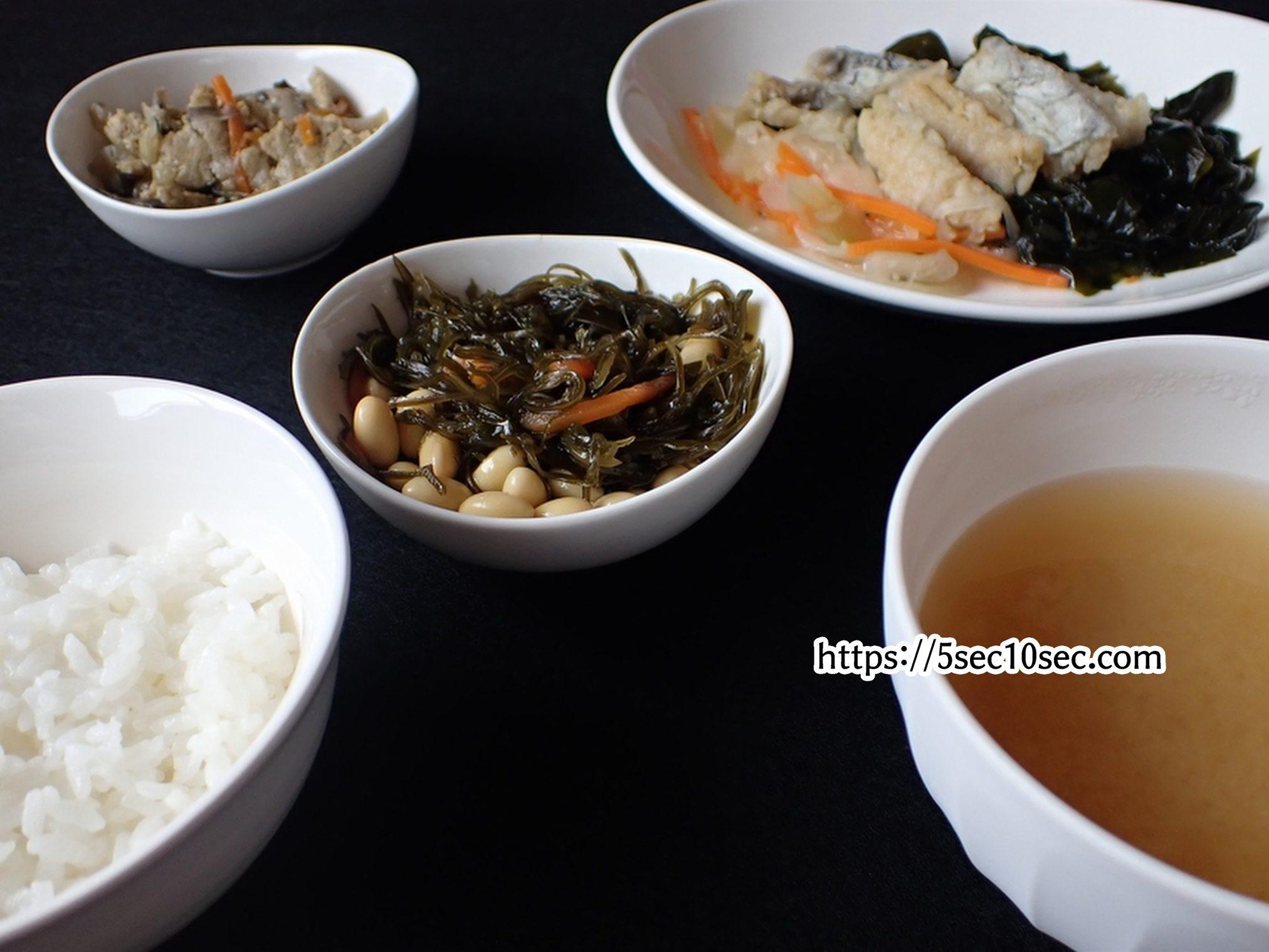わんまいる 健幸ディナー 瀬戸内海産 太刀魚の南蛮漬けセット 白米と味噌汁と合わせて