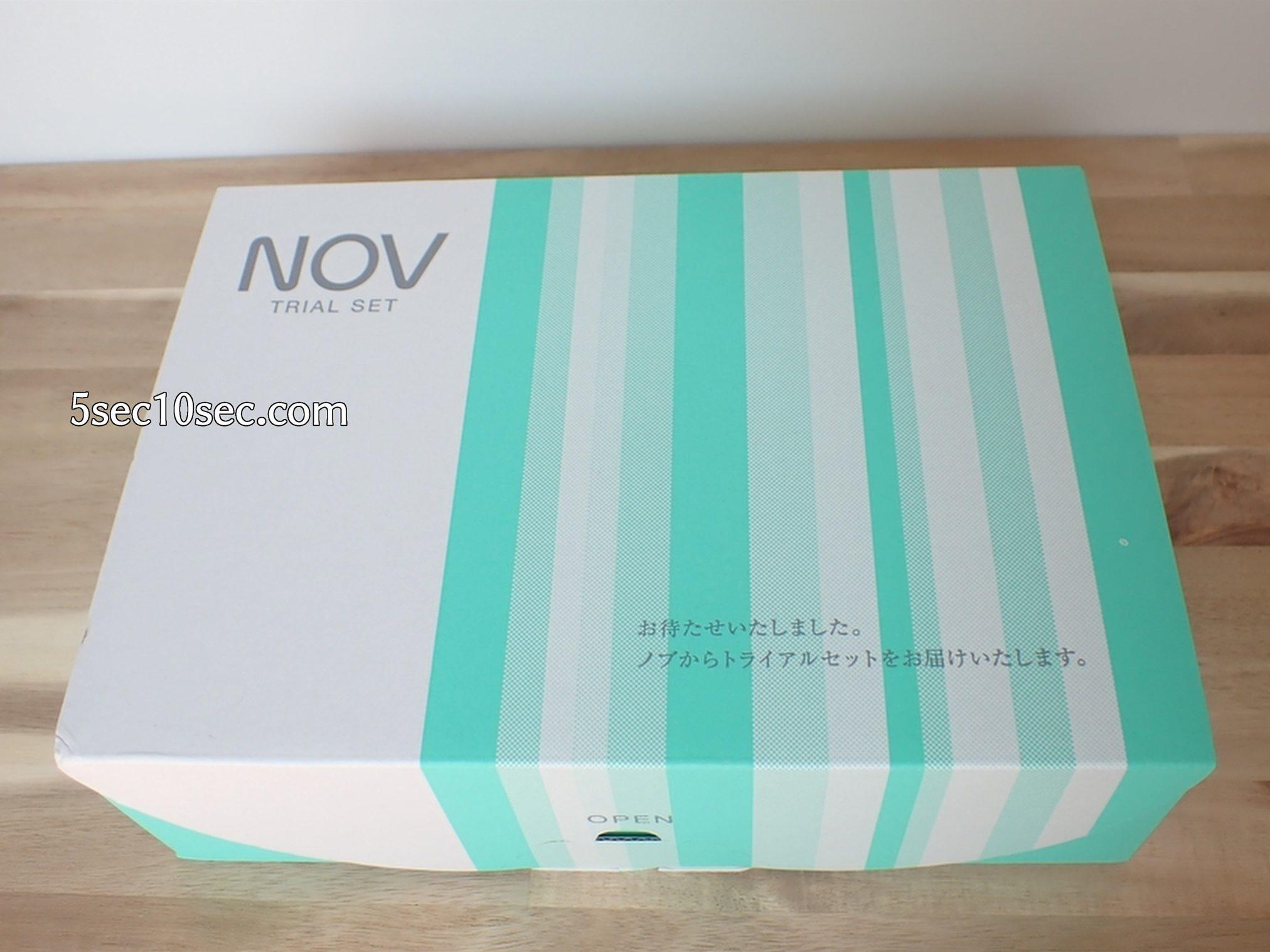 常盤薬品工業株式会社 ノブL&W トライアルセット 梱包の写真 このように箱に入って届きます