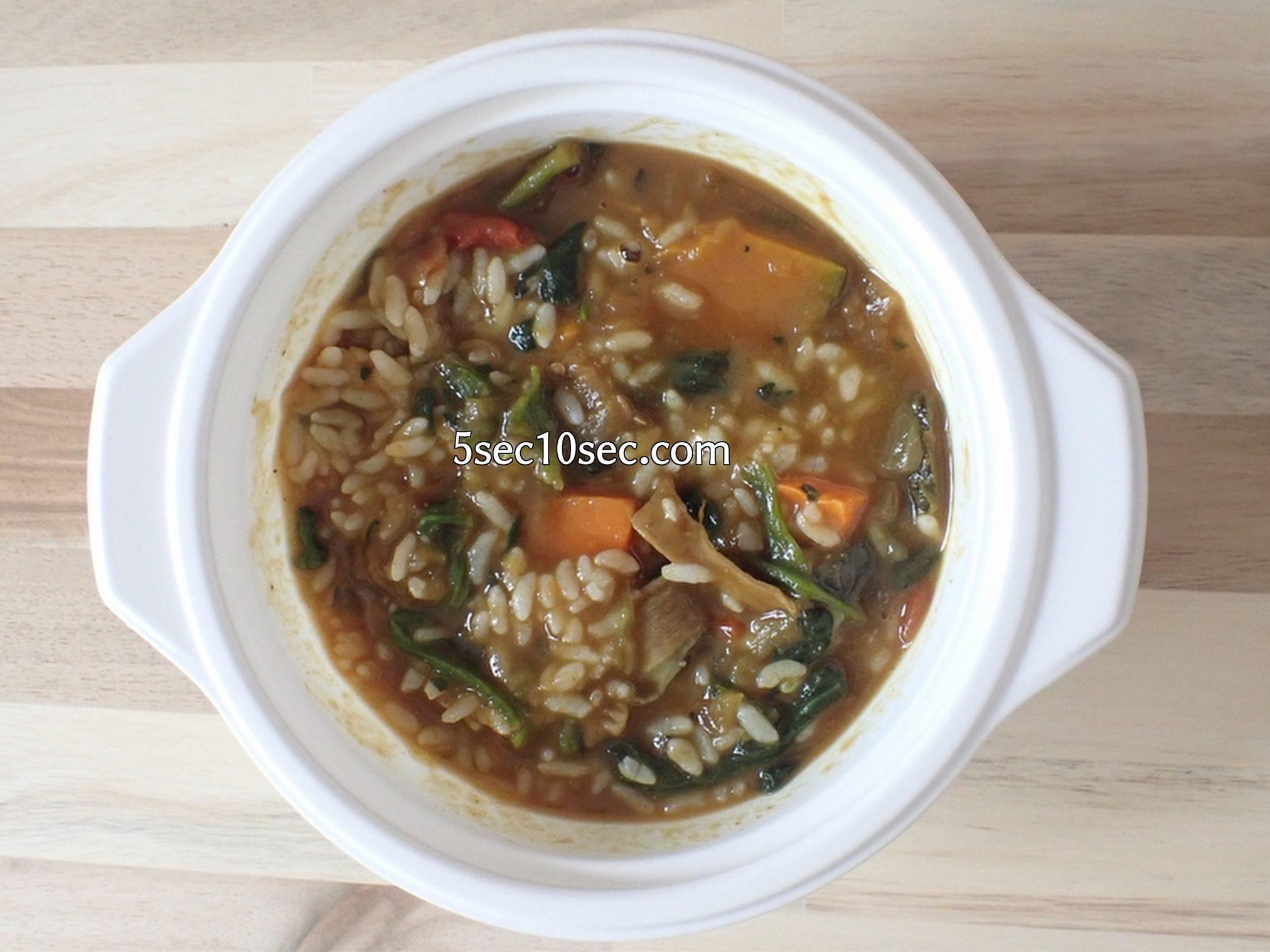 宅配健康食 ウェルネスダイニング ベジ活スープ食 野菜カレー アレンジ 炊いた白米を混ぜてカレーリゾットも楽しめます