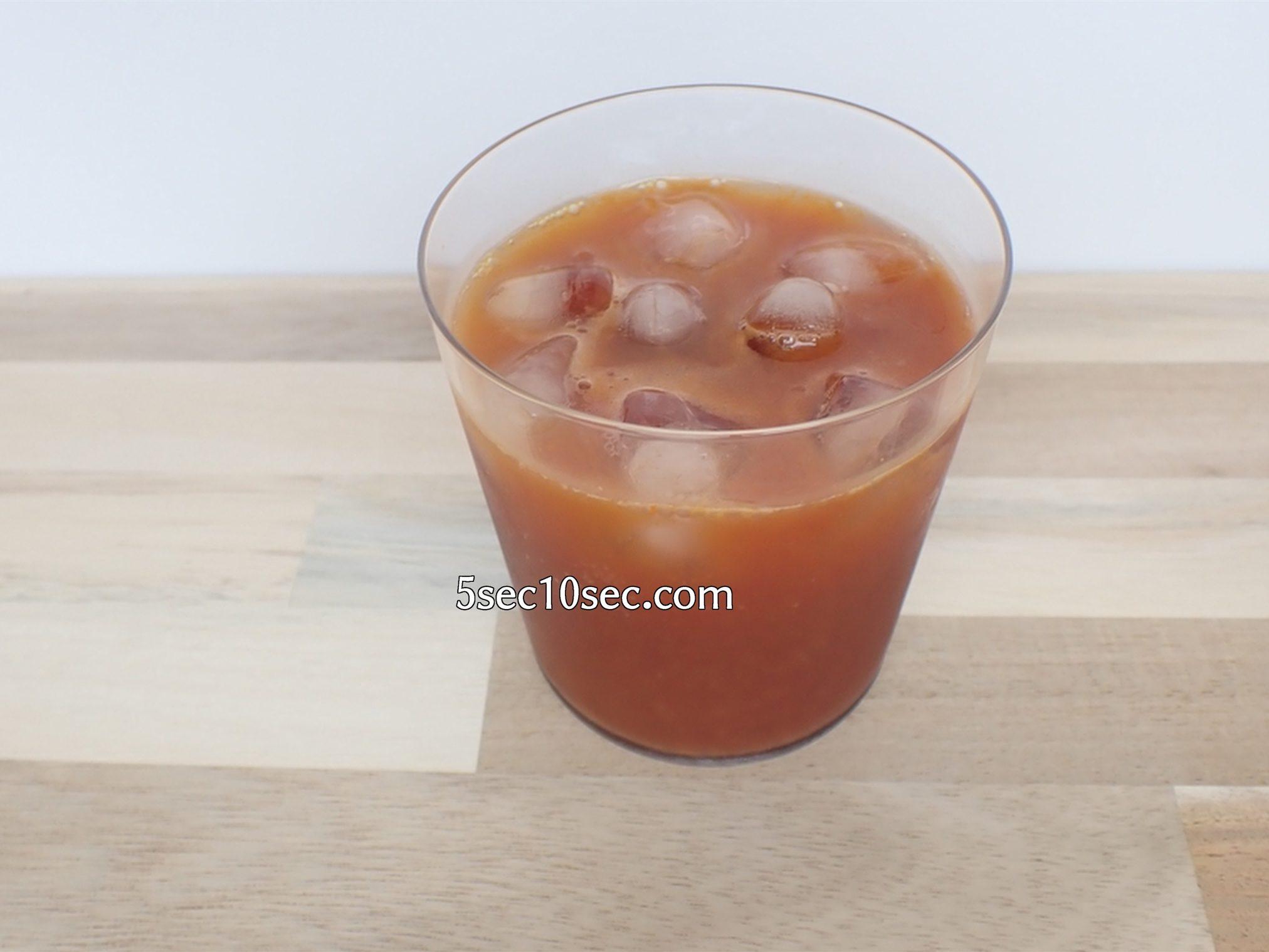 Curilla キュリラ 有機JAS認定 オーガニックサジージュース ぶどうジュースで割ってみた写真