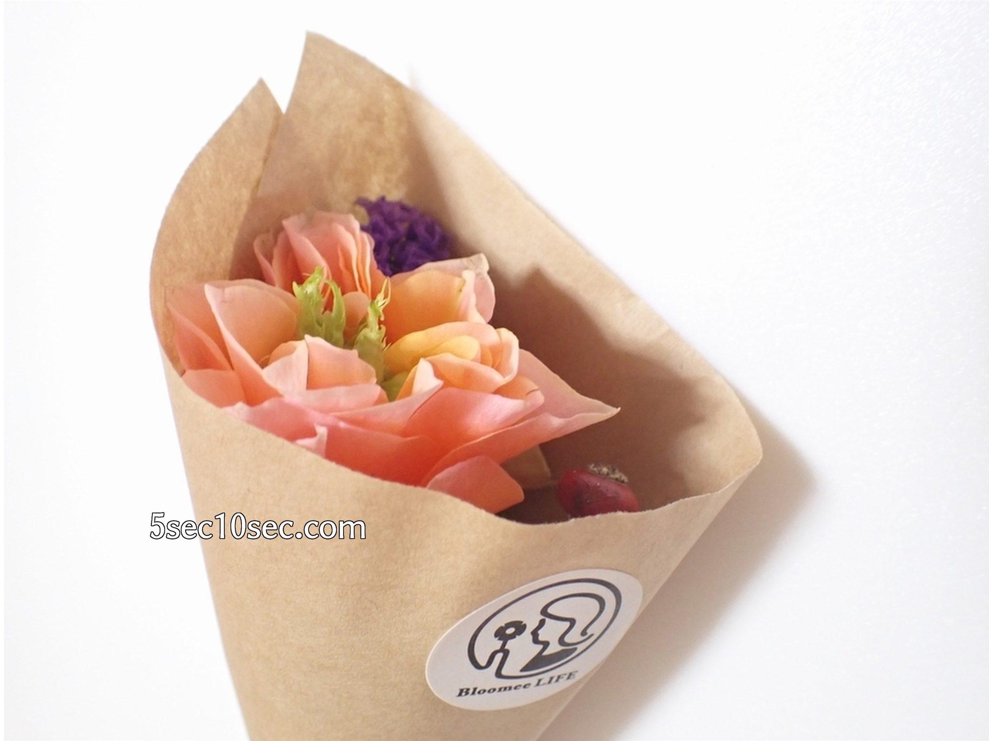 株式会社Crunch Style お花の定期便 Bloomee LIFE ブルーミーライフ 500円(税別・送料別)の体験プラン 花束の写真
