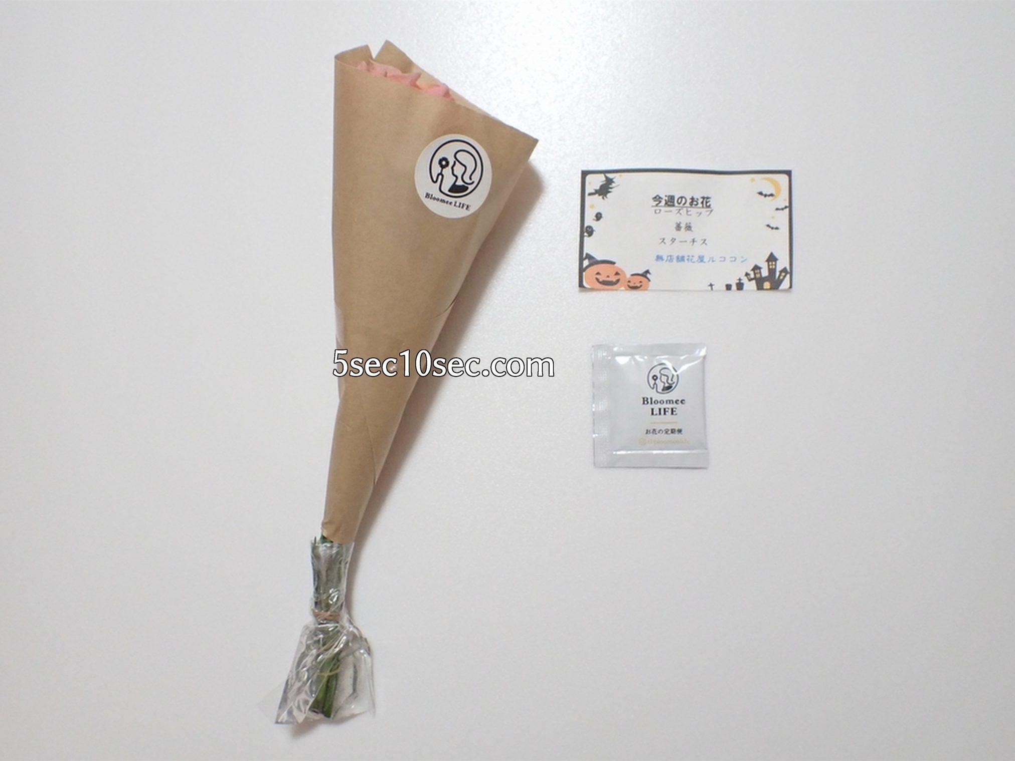 株式会社Crunch Style お花の定期便 Bloomee LIFE ブルーミーライフ 500円(税別・送料別)の体験プラン 届いたものの全て