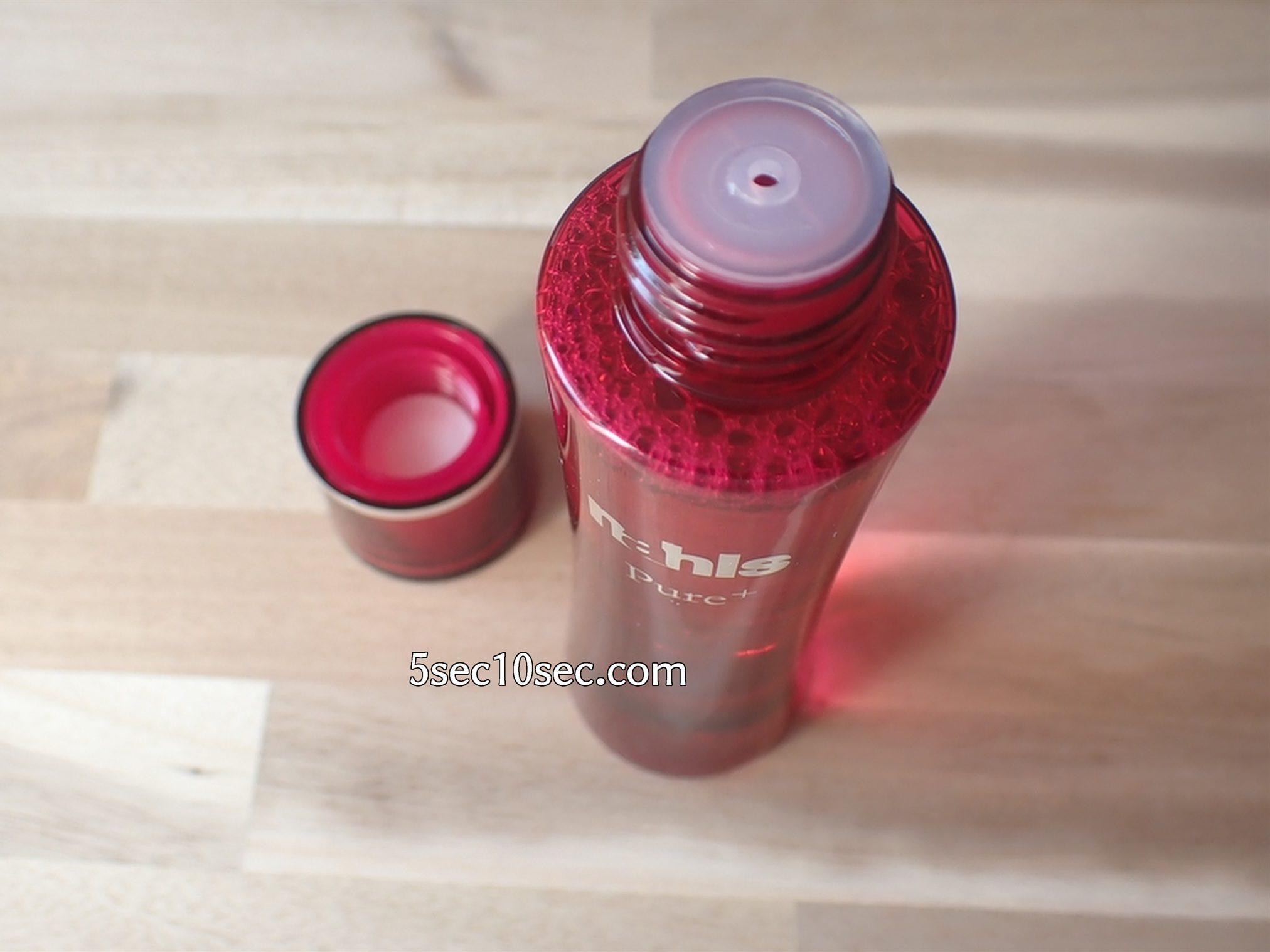 株式会社ディープインパクト ナールスピュア ナールスゲン配合化粧水 開封写真 容器の蓋を開けるとドロッパ―がついています