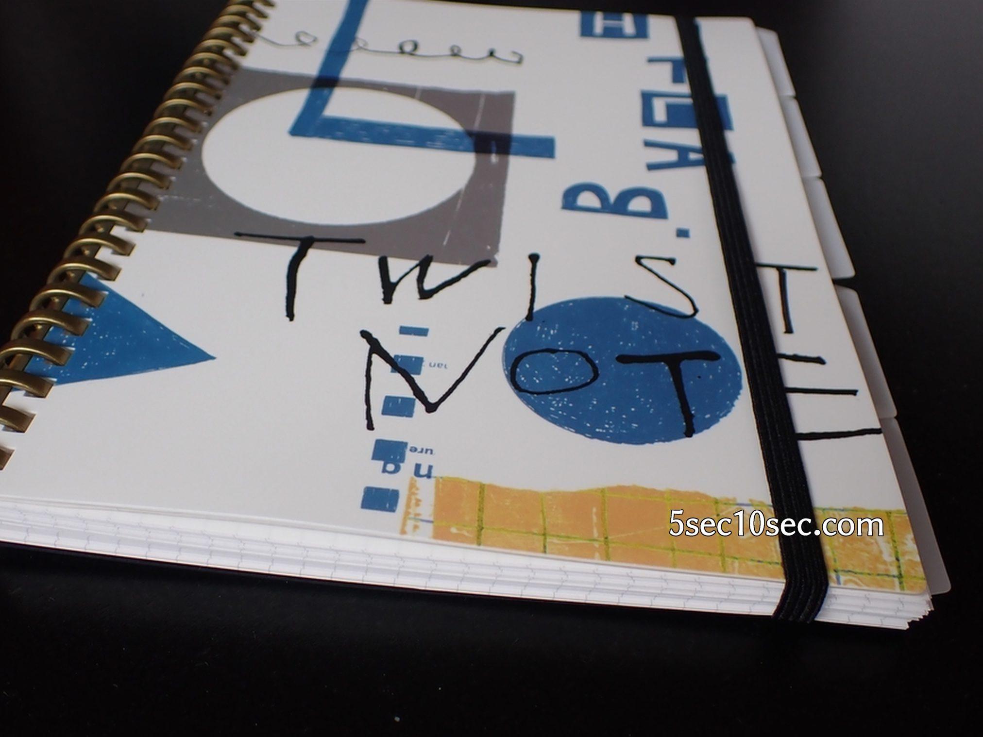リヒトラブ ツイストノート 専用インデックス A5 24穴 N-1637 インデックスをカスタマイズツイストノートのセットした写真