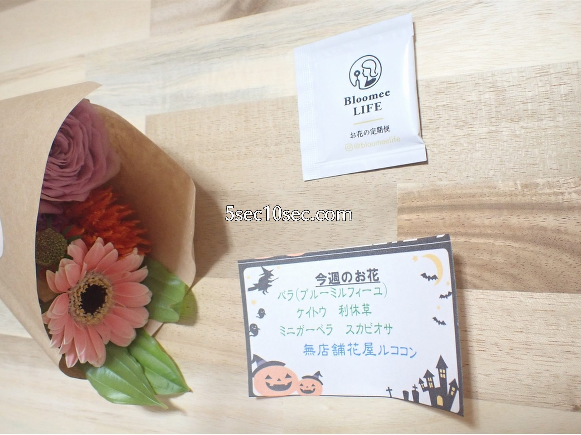 株式会社Crunch Style お花の定期便 Bloomee LIFE ブルーミーライフ レギュラープラン 届いたものの全て、届いたお花の名前