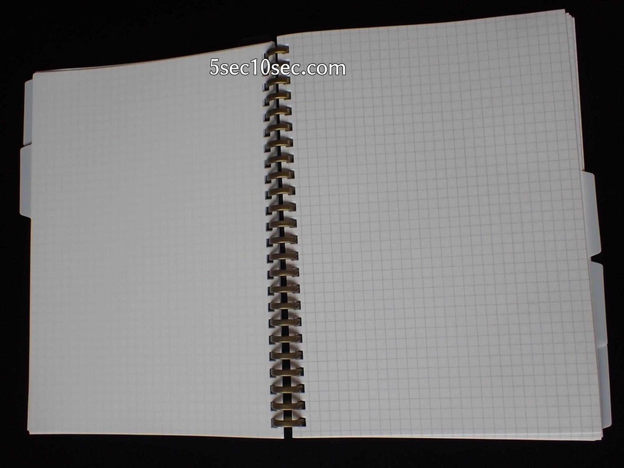 リヒトラブ ツイストノート 専用インデックス A5 24穴 N-1637 このようにノートのページの見出しに便利です