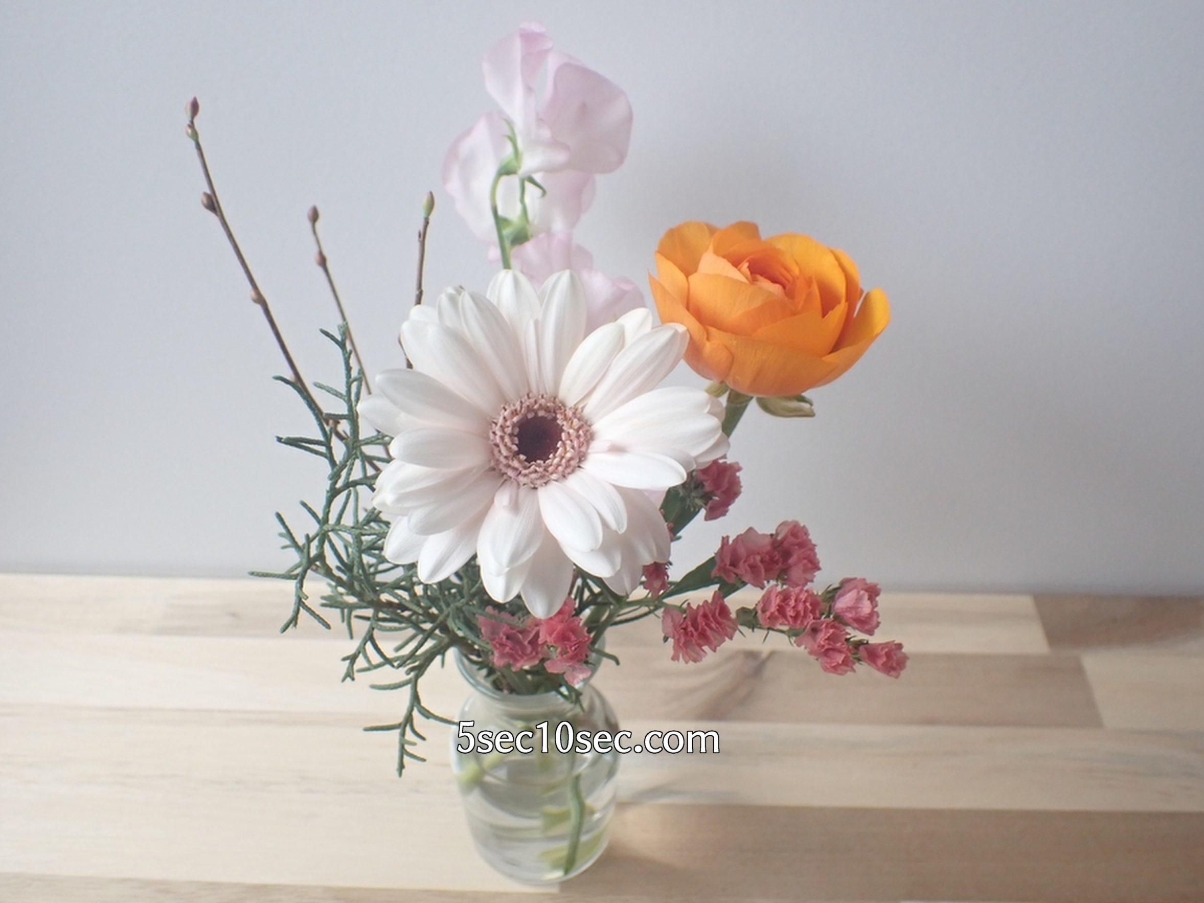 株式会社Crunch Style お花の定期便 Bloomee LIFE ブルーミーライフ 800円のレギュラープラン お手入れをして1~2日休ませると、切り花やグリーンが元気になります