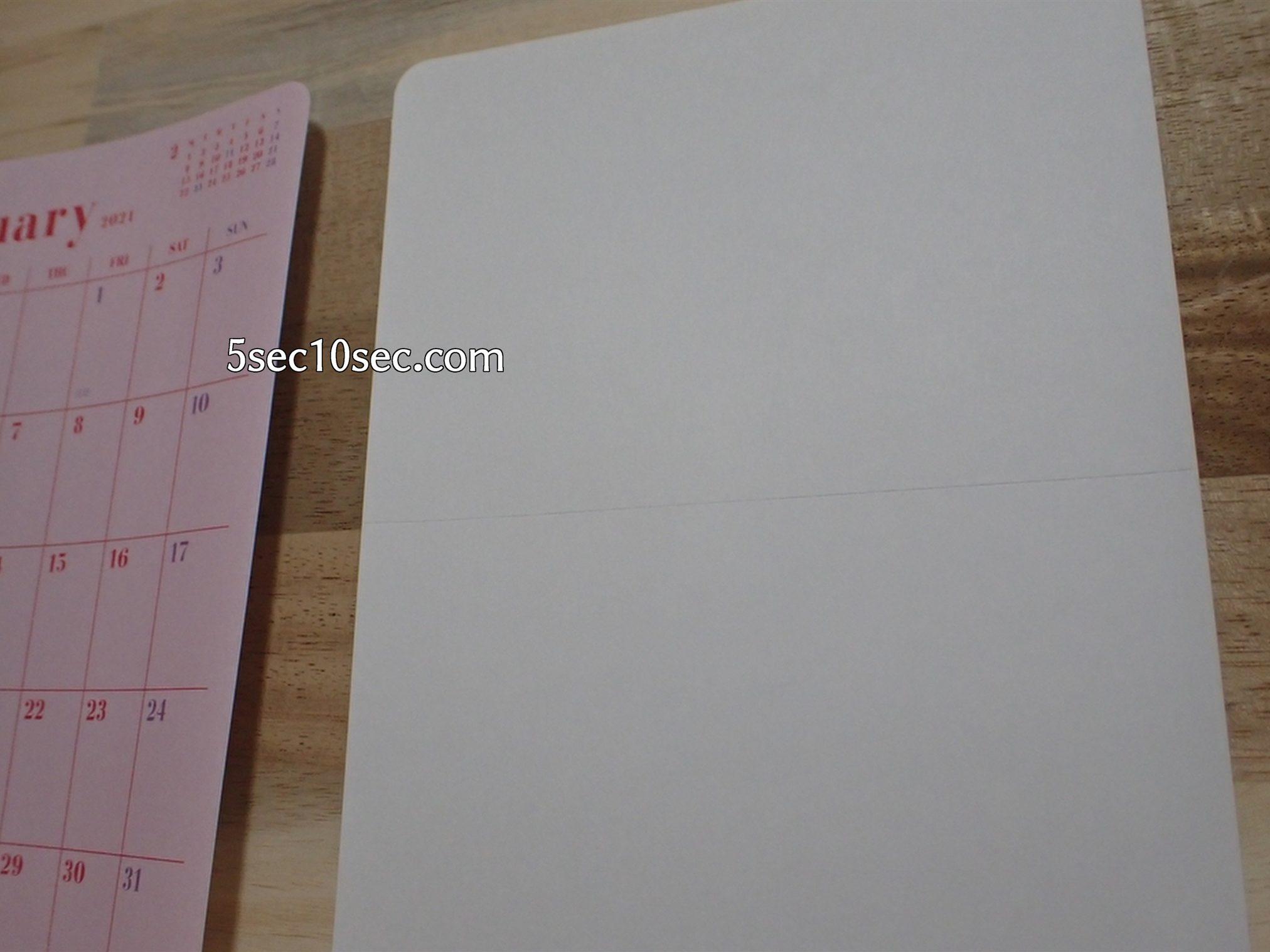 2021年1月始まり 手帳シール 自作手帳 マンスリー手帳 グリーティングライフ Greeting Life カスタムダイアリーステッカーズ マンスリーダイアリーはシこのようにシール台紙になっていて剥がしてノートなどに貼ります