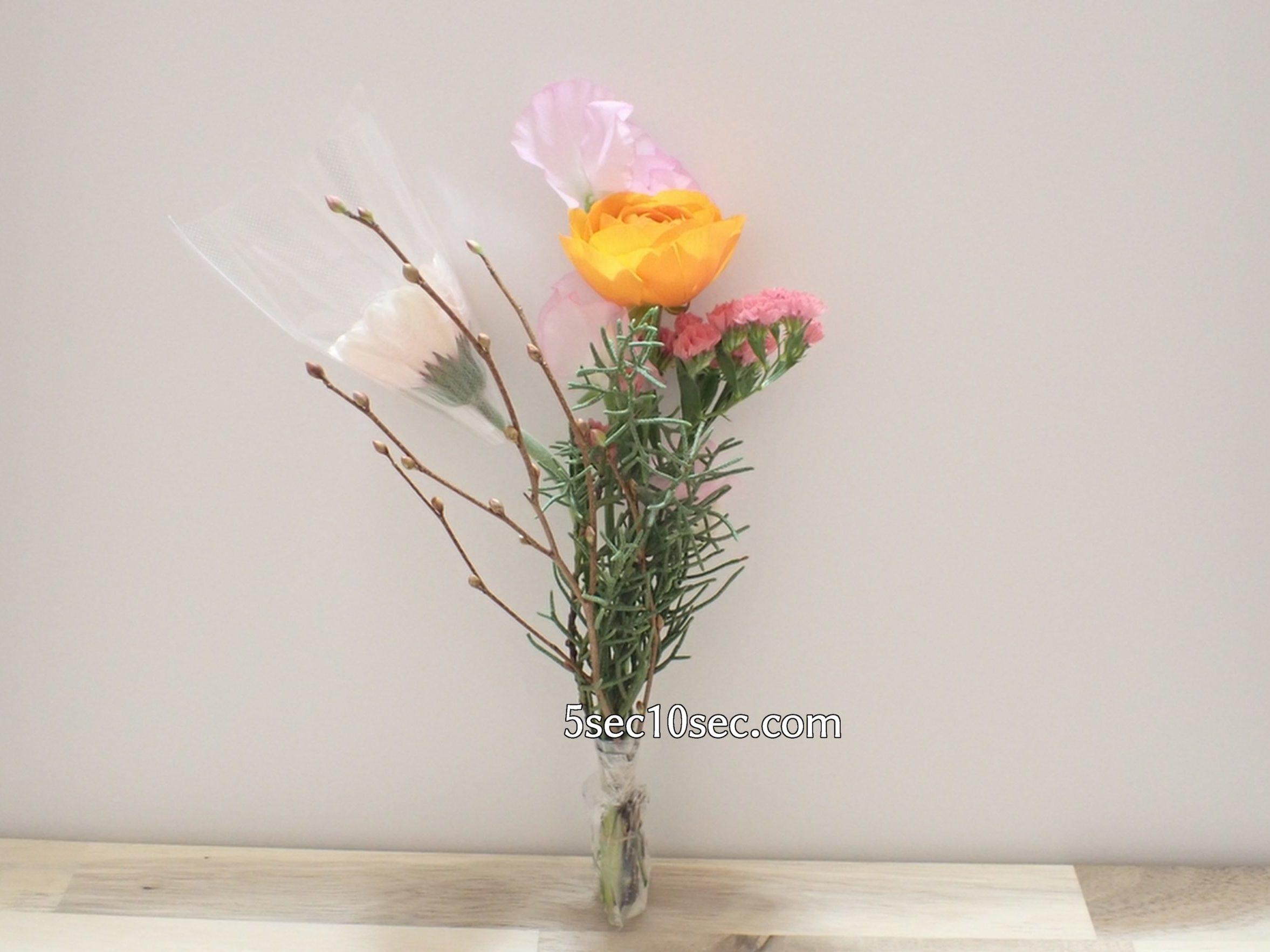 株式会社Crunch Style お花の定期便 Bloomee LIFE ブルーミーライフ 800円のレギュラープランで届いた内容