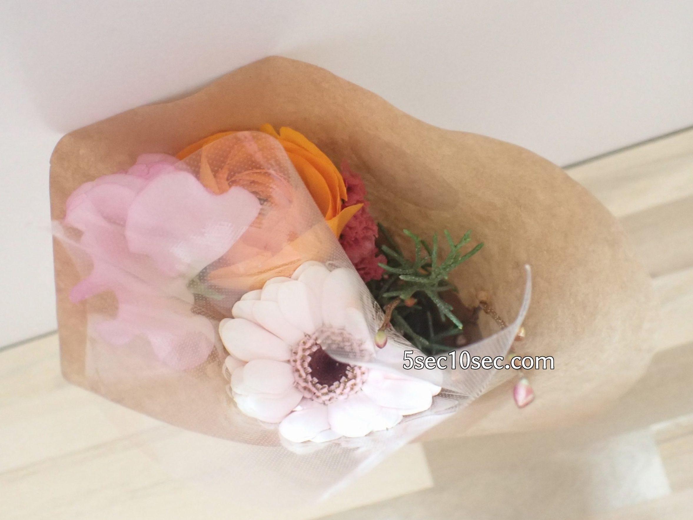 株式会社Crunch Style お花の定期便 Bloomee LIFE ブルーミーライフ レギュラープラン お花屋さんのアレンジの状態の写真