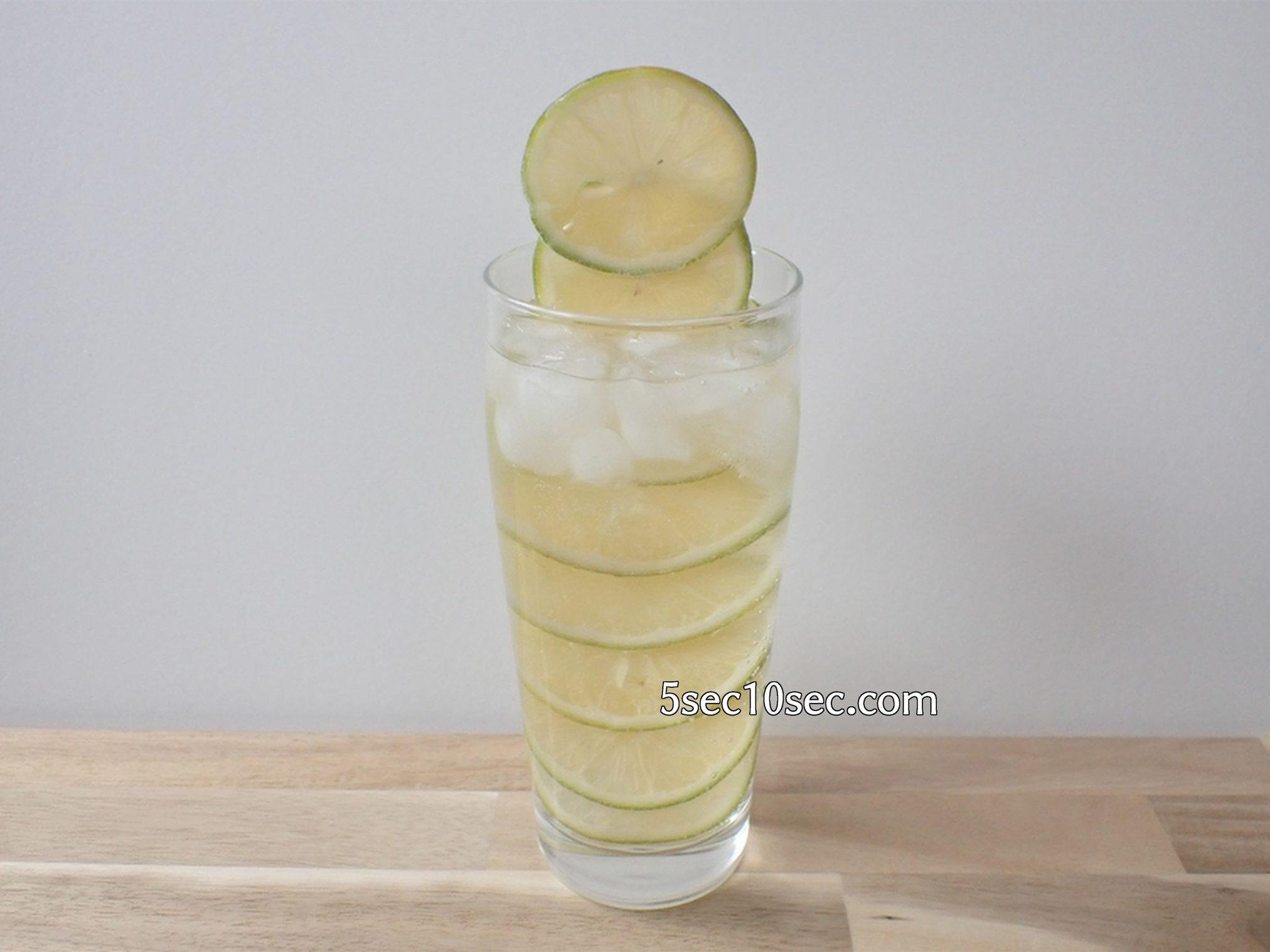 宝酒造 こだわりのレモンサワー用 宝焼酎 レモンタワーを維持するために氷も入れています