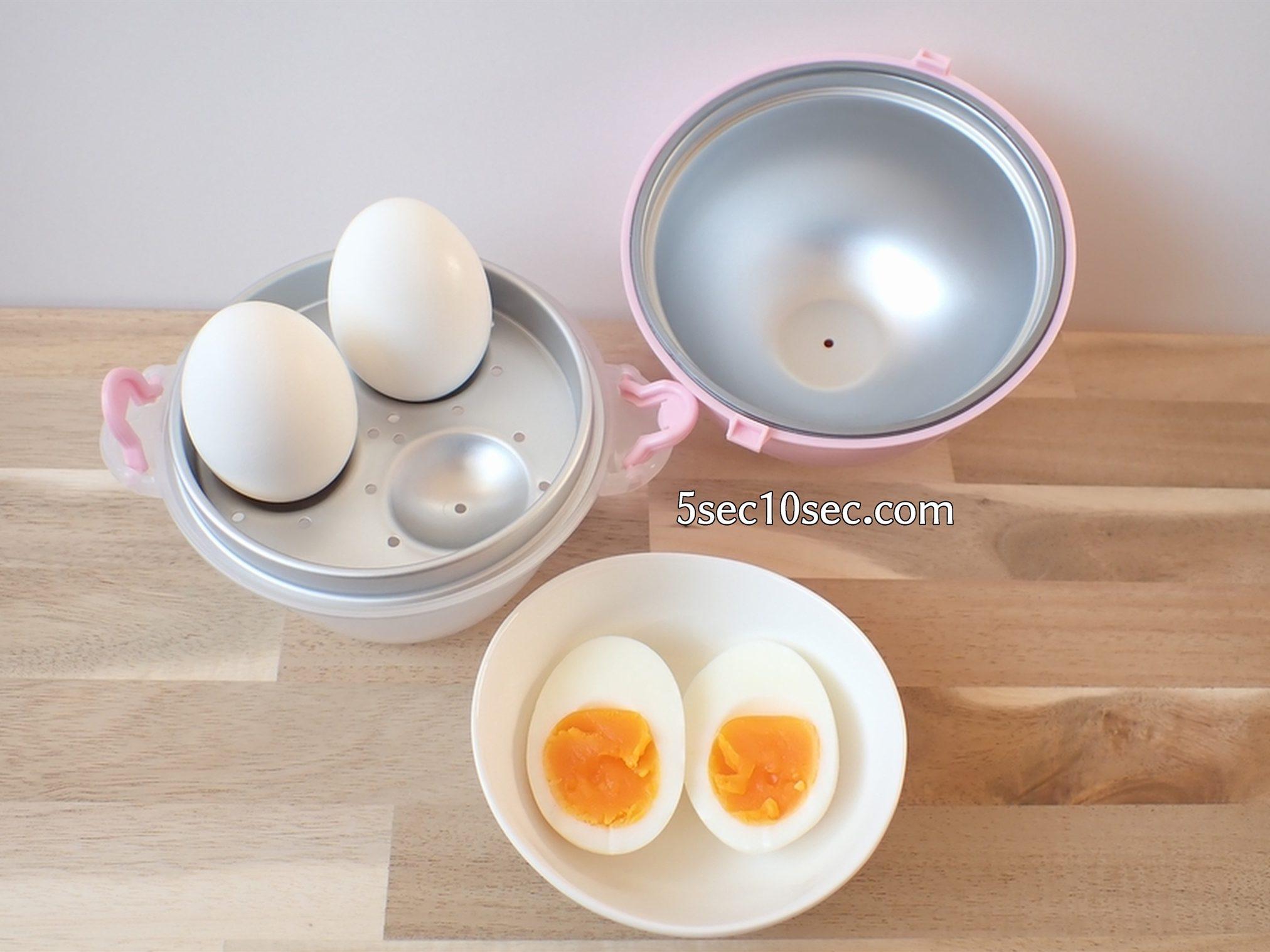 貝印 KAI レンジでゆでたまごが作れる容器 電子レンジで作ったゆで卵