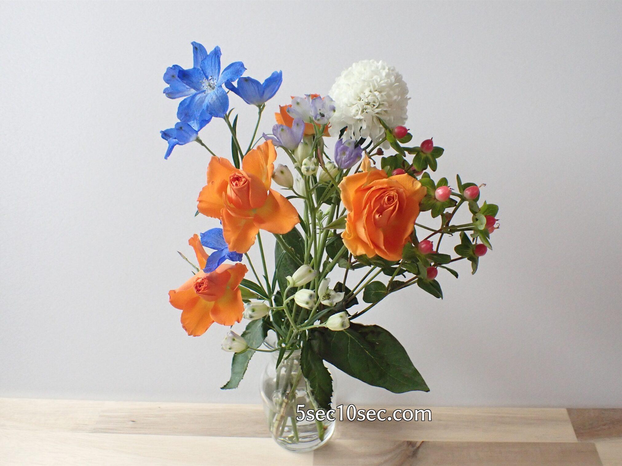 Bloomee LIFE(ブルーミーライフ)レギュラープラン 届いてから12日目のお花の写真