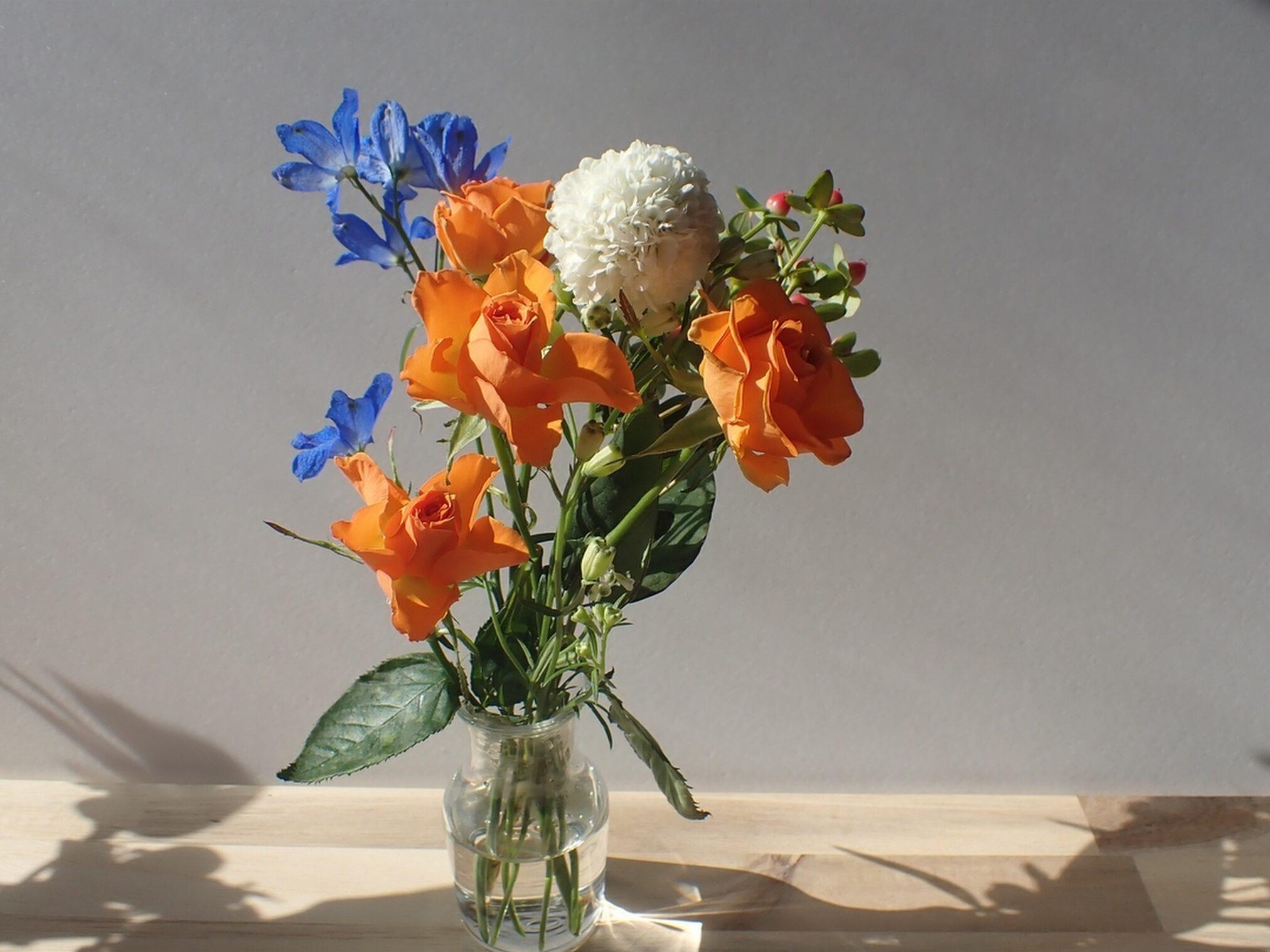 Bloomee LIFE(ブルーミーライフ)レギュラープラン 今週のお花、届いてから5日目のお花の状態