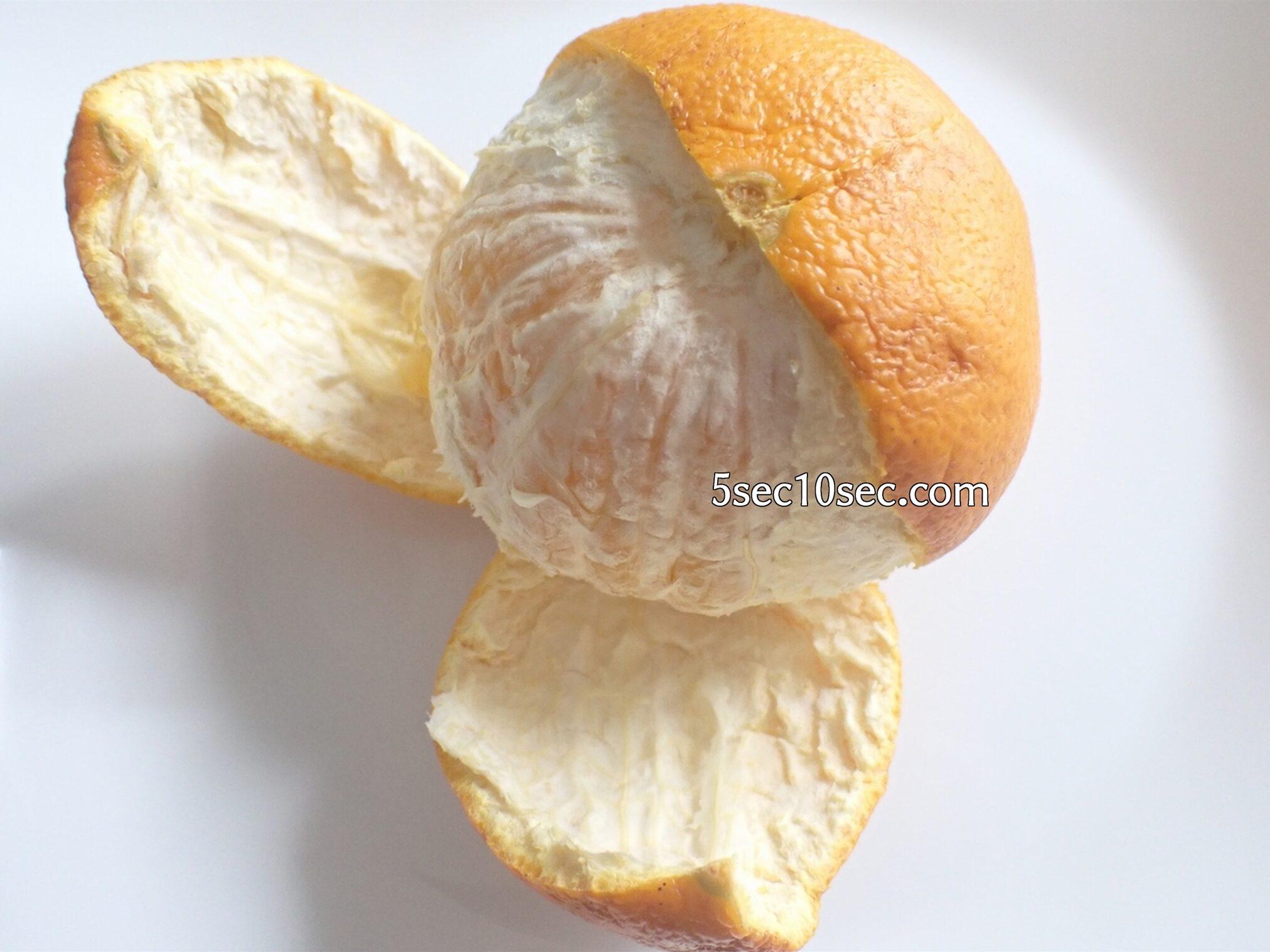 八朔、甘夏など皮が厚い柑橘の簡単な剥き方