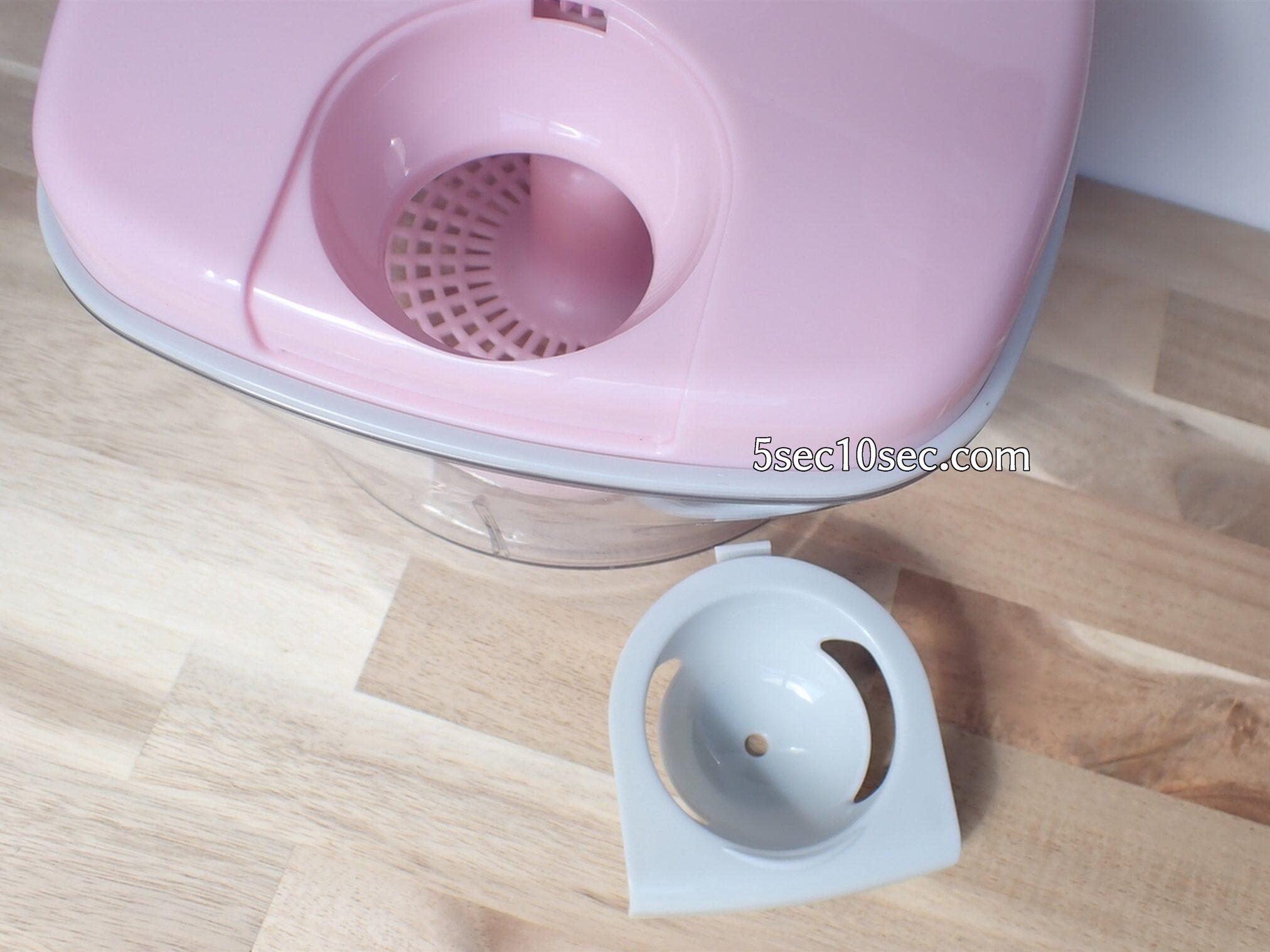 貝印 KHS スピーディーチョッパー L 品番DH2084 エッグセパレーターは取り外して、具材を追加できるし、お皿に黄身を移すときも簡単です