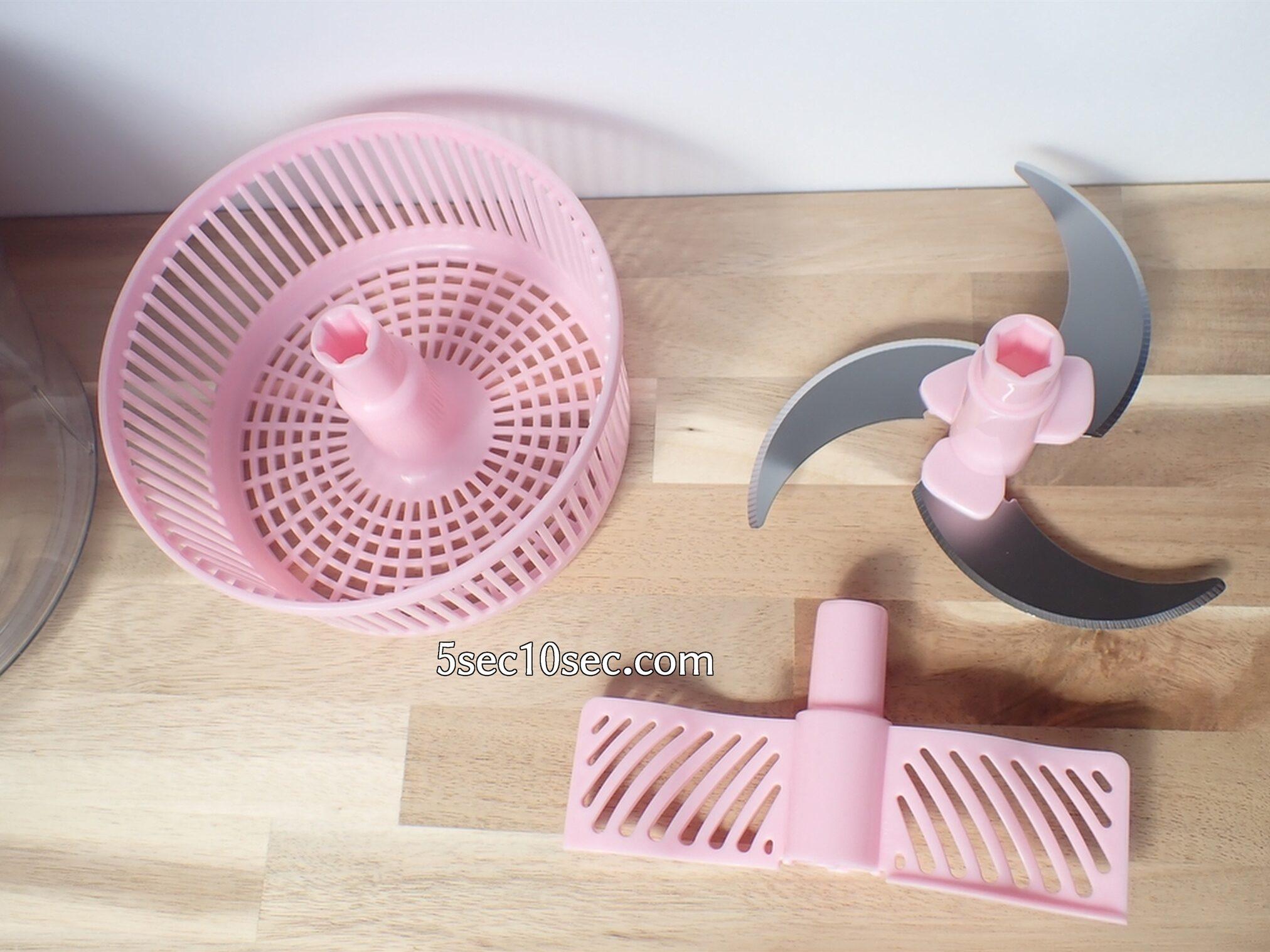 貝印 KHS スピーディーチョッパー L 品番DH2084 付属品です。刃体、羽、水切りかごがついています