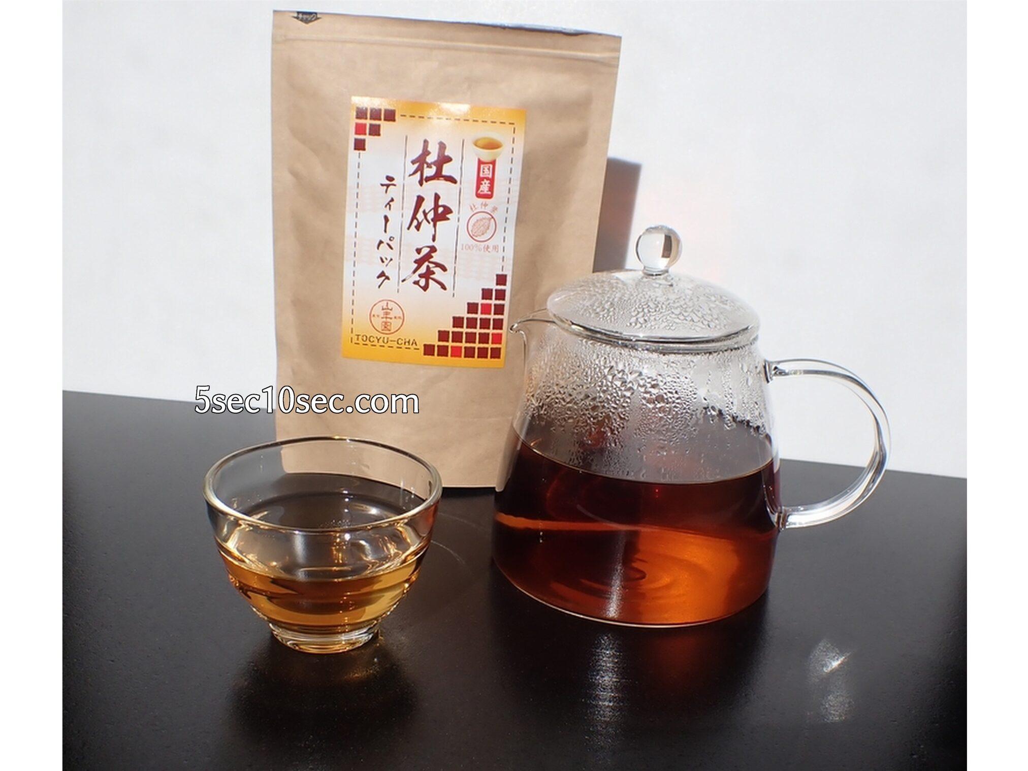 有限会社山年園 杜仲茶 国産 煮出して飲みますが、ティーポットに入れるだけでも飲むことができました
