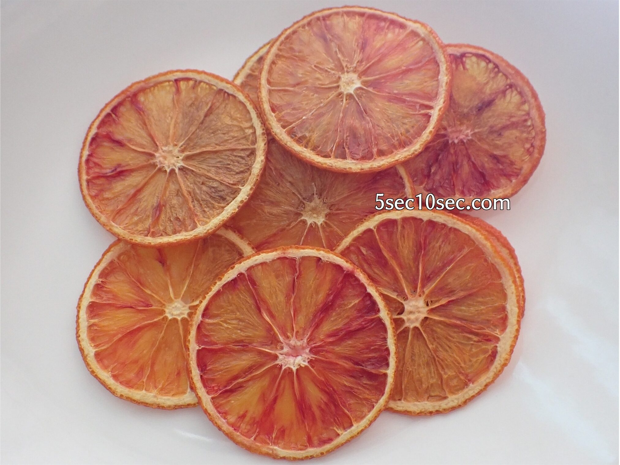 ブラッドオレンジ モロ種、タロッコ種 家庭用オーブンで家で作ったブラッドオレンジのドライフルーツ