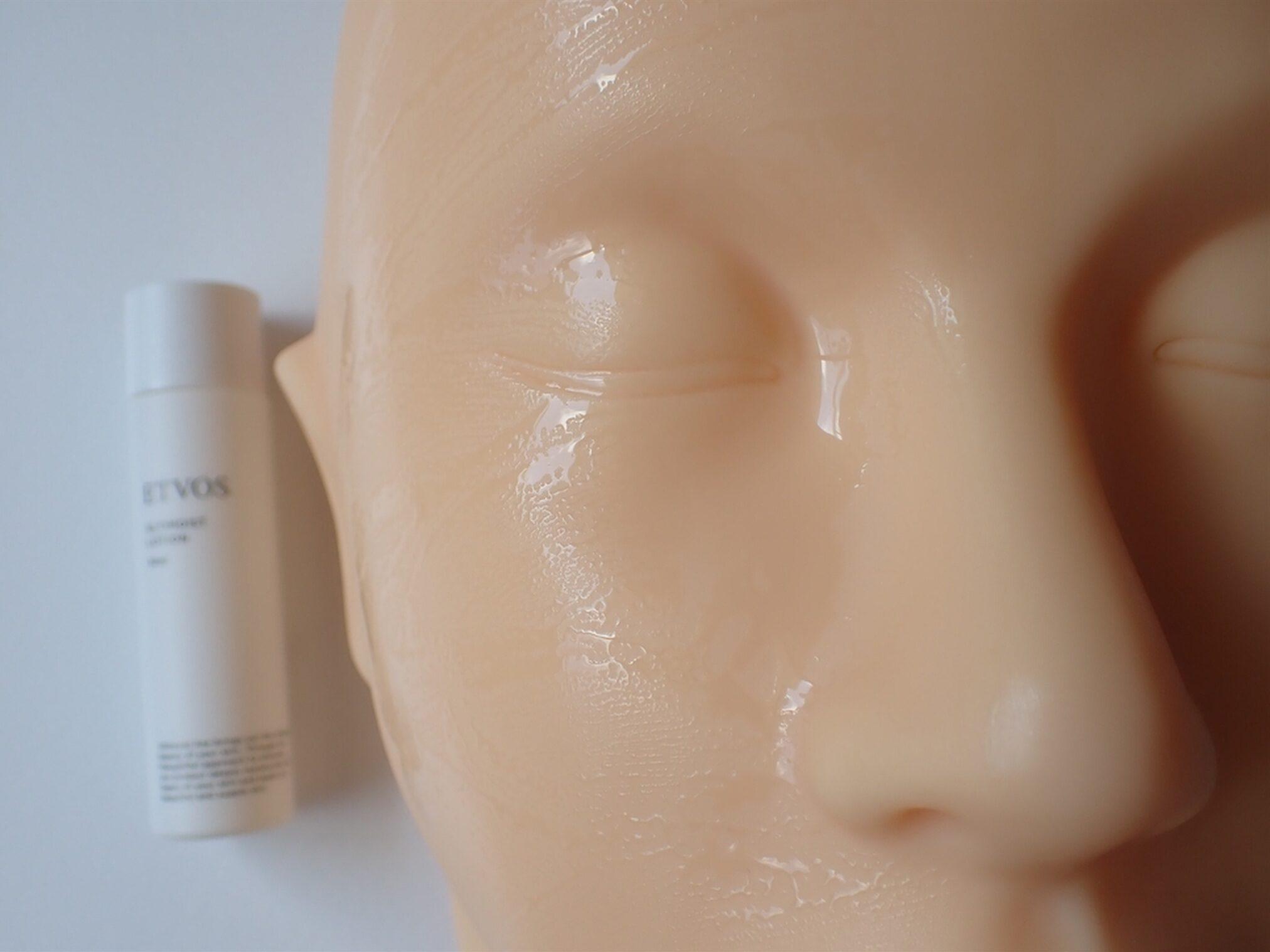 エトヴォス アルティモイスト トライアルキット ETVOS 保湿化粧水 アルティモイストローション 30ml 使用写真